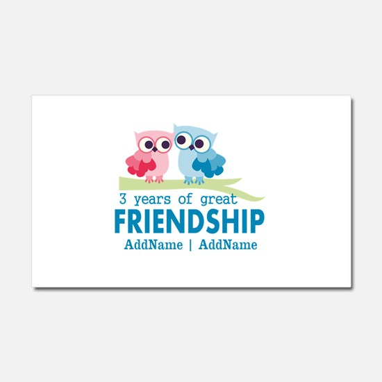 3rd Anniversary Gift Personali Car Magnet 20 x 12