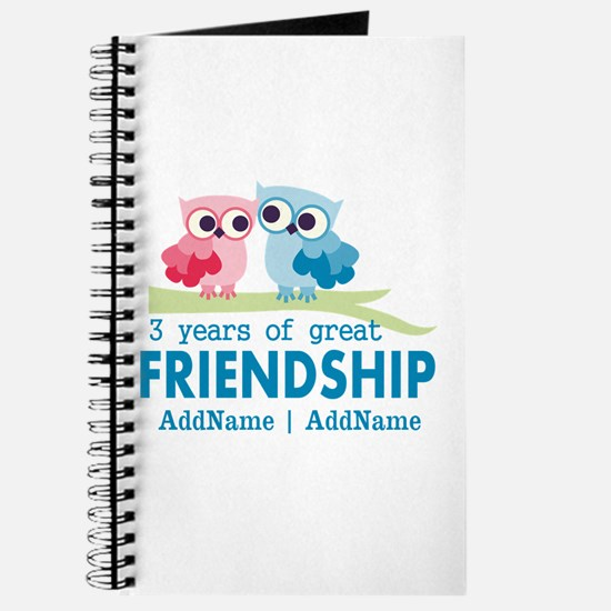 3rd Anniversary Gift Personalized Journal