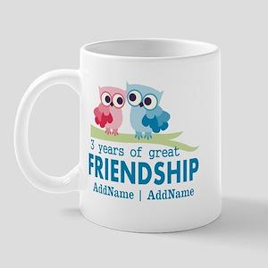 3rd Anniversary Gift Personalized Mug