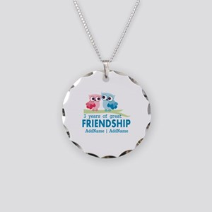 3rd Anniversary Gift Person Necklace Circle Charm