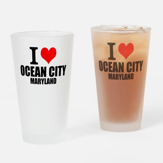 I Love Ocean City, Maryland Drinking Glass