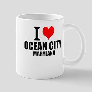 I Love Ocean City, Maryland Mugs