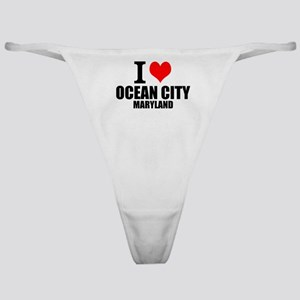 I Love Ocean City, Maryland Classic Thong