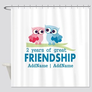 Gift For 2nd Anniversary Personaliz Shower Curtain