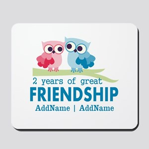 Gift For 2nd Anniversary Personalized Mousepad