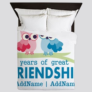 Gift For 2nd Anniversary Personalized Queen Duvet