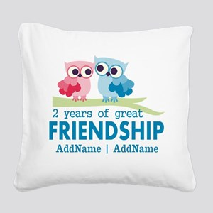 Gift For 2nd Anniversary Pers Square Canvas Pillow