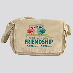 Gift For 2nd Anniversary Personalize Messenger Bag