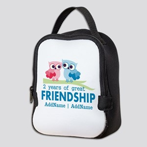 Gift For 2nd Anniversary Person Neoprene Lunch Bag