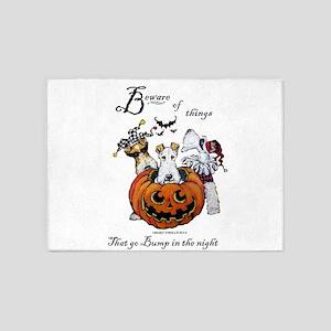 Fox Terrier Halloween 5'x7'Area Rug