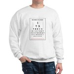 Itrr - Records Eye Chart - Content Sweatshirt