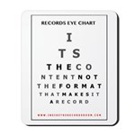 Itrr - Records Eye Chart - Content Mousepad