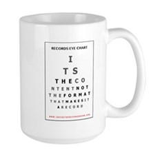 Itrr - Records Eye Chart - Content Mugs
