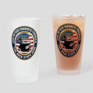 CVN-75 USS Harry S. Truman Drinking Glass