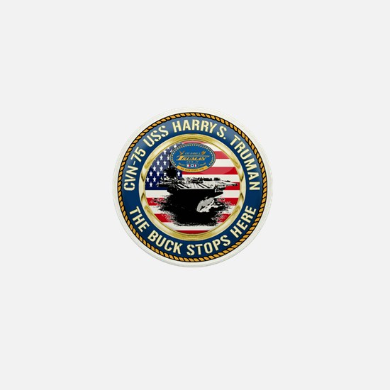 CVN-75 USS Harry S. Truman Mini Button