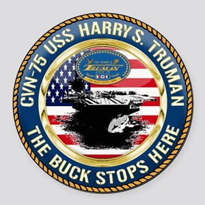 CVN-75 USS Harry S. Truman Round Car Magnet