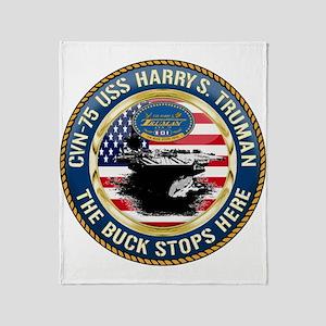 CVN-75 USS Harry S. Truman Throw Blanket
