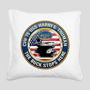CVN-75 USS Harry S. Truman Square Canvas Pillow