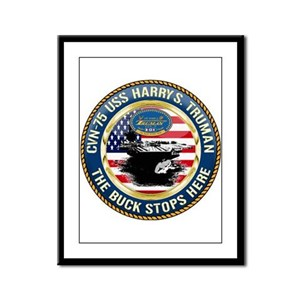 CVN-75 USS Harry S. Truman Framed Panel Print