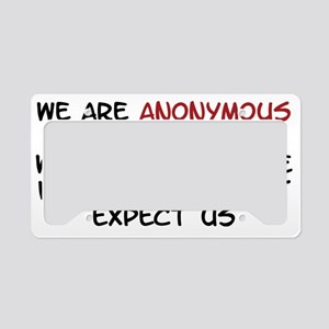 Anonymous License Plate Holder