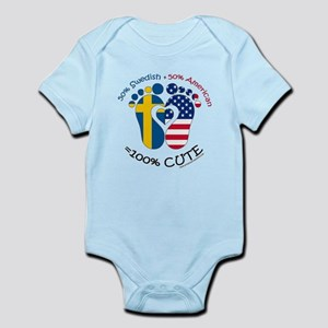 Swedish American Baby Body Suit