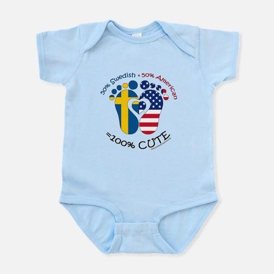Swedish American Baby Body Suit