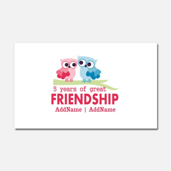 5 Years Anniversary Personalize Car Magnet 20 x 12