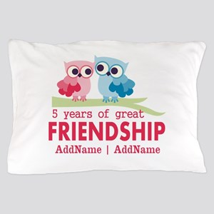 5 Years Anniversary Personalized Pillow Case