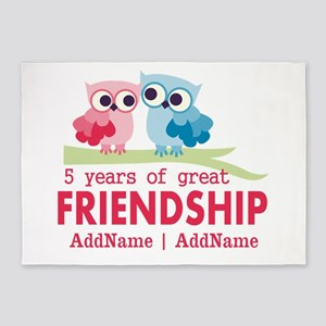 5 Years Anniversary Personalized 5'x7'Area Rug