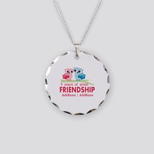 5 Years Anniversary Personal Necklace Circle Charm