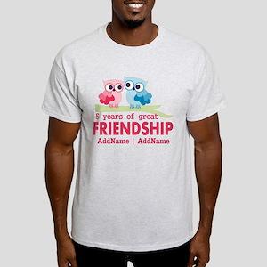 5 Years Anniversary Personalized Light T-Shirt
