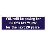 Bush Tax Cuts Bumper Sticker