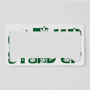 Cannabis License Plate Holder