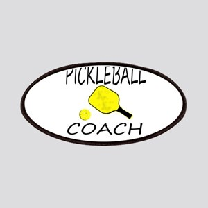 Pickleball coach yellow padd Patches