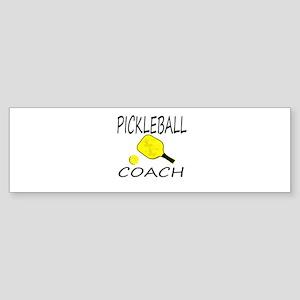 Pickleball coach yellow padd Bumper Sticker