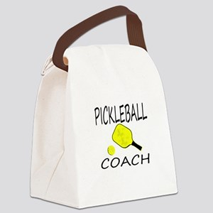 Pickleball coach yellow padd Canvas Lunch Bag