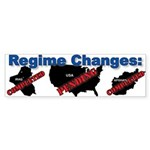 Regime Changes Bumper Sticker