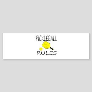 Pickleball Rules Bumper Sticker