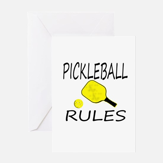Pickleball Rules Greeting Cards