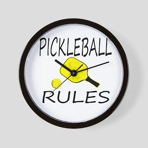 Pickleball Rules Wall Clock