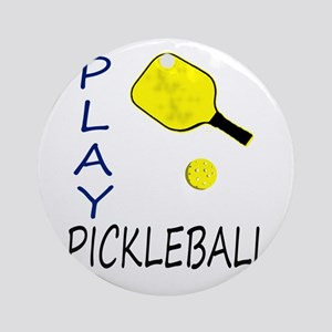 Play pickleball Ornament (Round)
