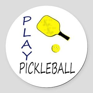 Play pickleball Round Car Magnet