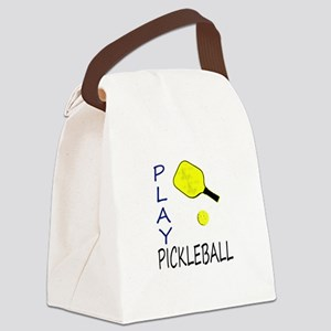 Play pickleball Canvas Lunch Bag
