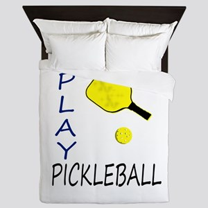 Play pickleball Queen Duvet