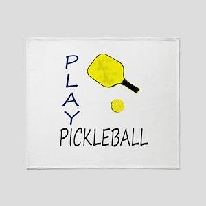 Play pickleball Throw Blanket