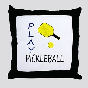 Play pickleball Throw Pillow