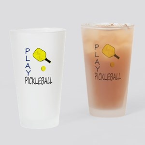 Play pickleball Drinking Glass