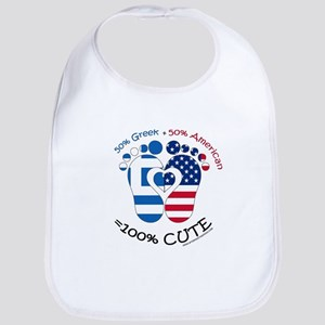 Greek American Baby Bib