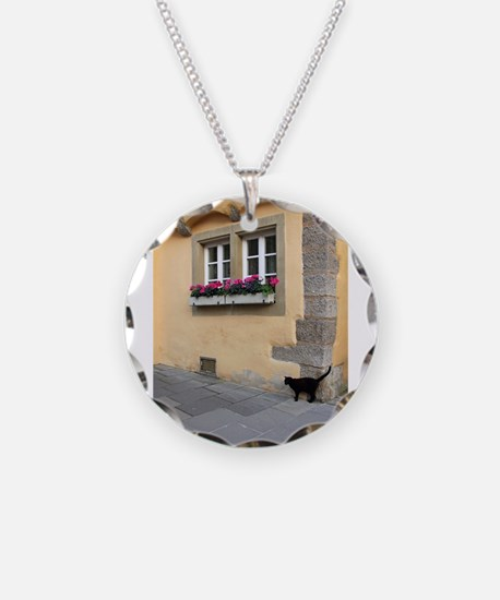 Cute Black cat box Necklace