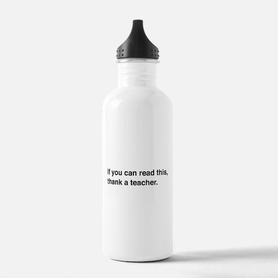Read this thank a teacher Water Bottle